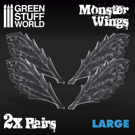 2x Resin Monster Wings - Large