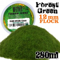 Static Grass Flock 12mm - Forest Green - 280 ml