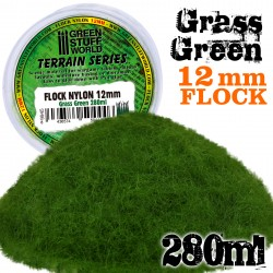 Static Grass Flock 12mm - Grass Green - 280 ml