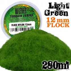 Static Grass Flock 12mm - Light Green - 280 ml