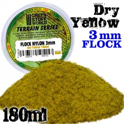 Static Grass Flock 3 mm - Dry Yellow - 180 ml