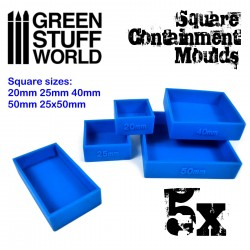5x Containment Moulds for Bases - Square