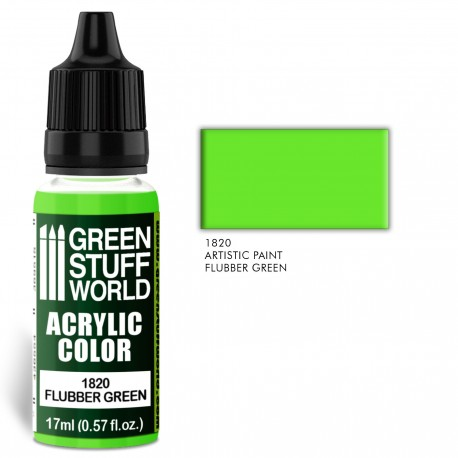 Acrylic Color FLUBBER GREEN
