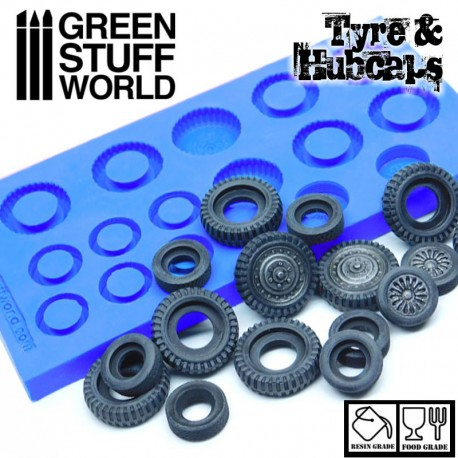 Silicone Molds - Tyres and Hubcaps
