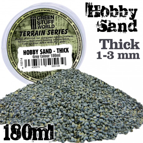 Thick Hobby Sand 180ml - Grey