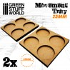 MDF Movement Trays 4 x 25mm