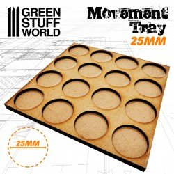 MDF Regimentsbases 25mm 4x4 - Skirmish Lines