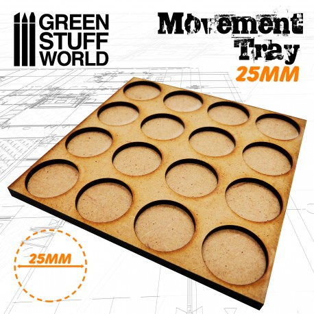 MDF Movement Trays 16 x 25mm