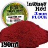Cesped Electrostatico 3 mm - ROJO INTENSO - 180 ml