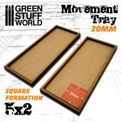 MDF Regimentsbases 20mm 5x2