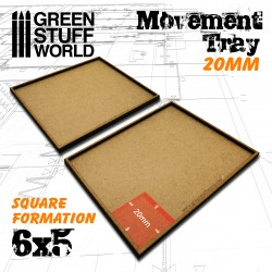 MDF Regimentsbases 20mm 6x5