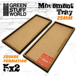 MDF Movement Trays 25mm 5x2