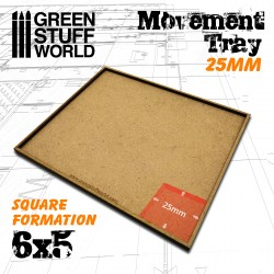 MDF Regimentsbases 25mm 5x4