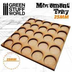 MDF Regimentsbases 25mm 5x5 - Skirmish Lines