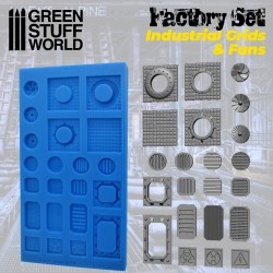 Silicone Molds - Grids and Fans