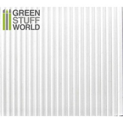 ABS Plasticard - CORRUGATED 3mm Textured Sheet