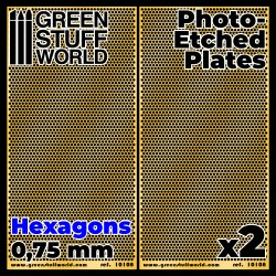 Photo-etched Plates - Medium Hexagons
