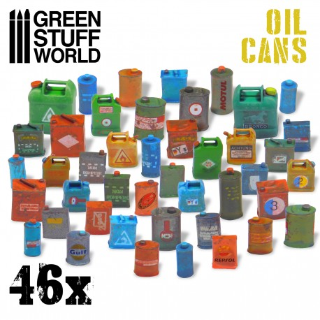 46x Resin Oil Cans