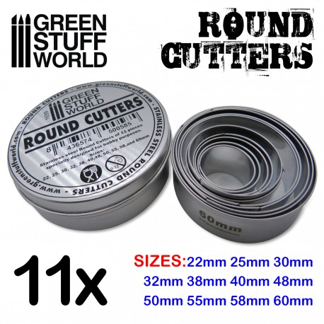 Round Cutters for Bases - Stainless Steel