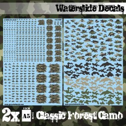 Waterslide Decals - Classic Forest Camo