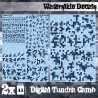 Waterslide Decals - Digital Tundra Camo