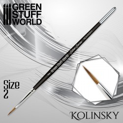 SILVER SERIES Kolinsky Brush - Size 2