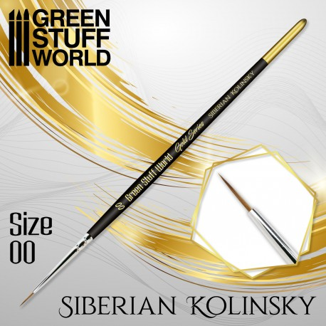 GOLD SERIES Siberian Kolinsky Brush - Size 00