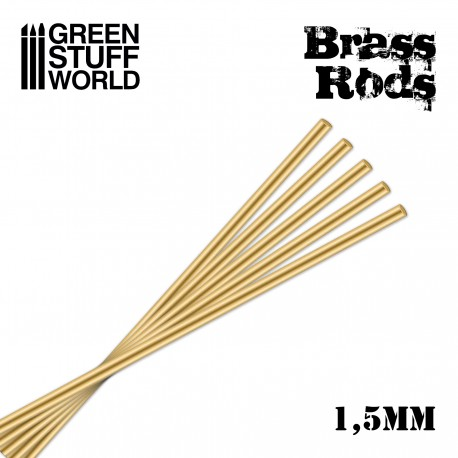 Pinning Brass Rods 1.5mm - round profiles