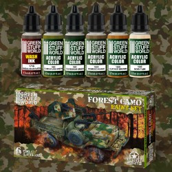 Paint Set - Forest Camo