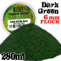 Static Grass Flock 6mm - Dark Green - 280 ml