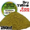 Static Grass Flock - Dry Yellow 6 mm - 280 ml