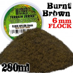 Static Grass Flock 6 mm - BURNT Brown - 280 ml