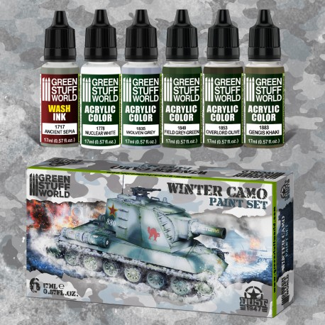 Paint Set - Winter Camo