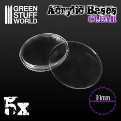 Acrylic Bases - Round 80 mm CLEAR