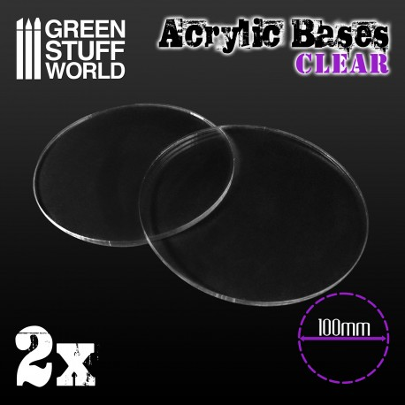 Acrylic Bases - Round 100 mm CLEAR