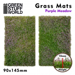 Grass Mat Cutouts - Purple Meadow