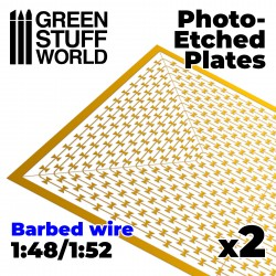 Photo-etched Plates - Barbed Wire