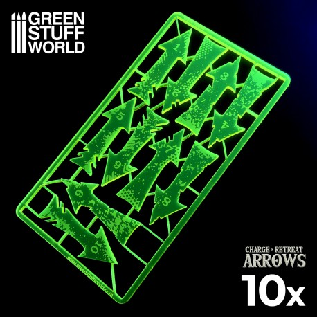Charge and Retreat Arrows - Fluor Yellow Green