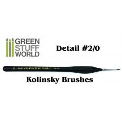 Brushes Detail 2-0 Natural Kolinsky