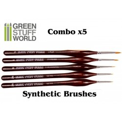 Synthetische Pinsel - COMBO Set x5