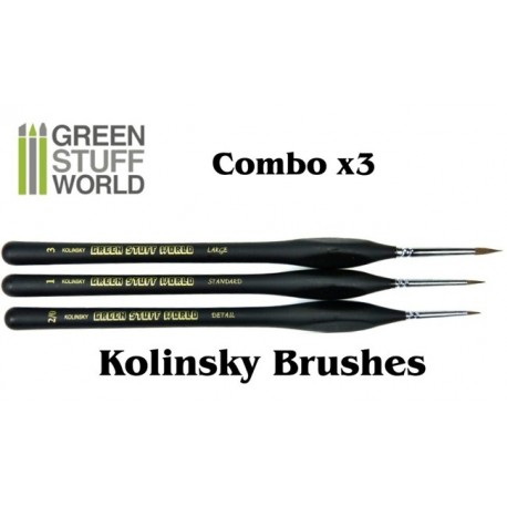 Brushes COMBOx3 Natural Kolinsky