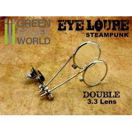 Doppellupe für steampunk Schutzbrillen