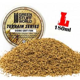 Natur-Korkschrot dünne Körnung 0'5 - 2 mm - 180 ml - L