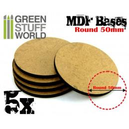 Socles ROND 50 mm en MDF
