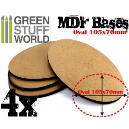 Socles OVALES AOS 105x70mm en MDF