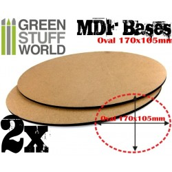MDF Bases - Oval 170x105mm