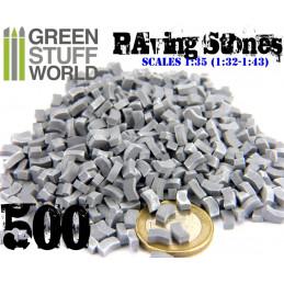Pflastersteine Ziegelsteine - Grau x500