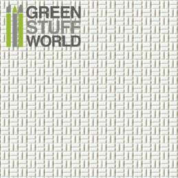 Plaque de Plasticard texturé PAVE RECTANGULAIRE URBAINE petits