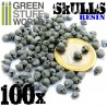 100x Resin Skulls