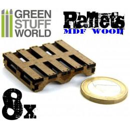8x Palettes en bois